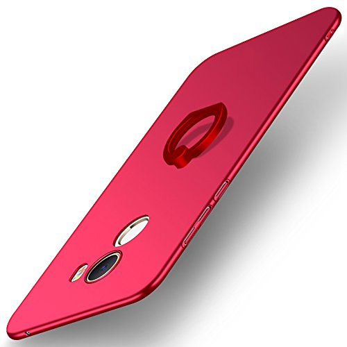 Casos Funda® Firmness para Smartphone com Anel para Xiaomi Mi MIX 2 (Vermelho)
