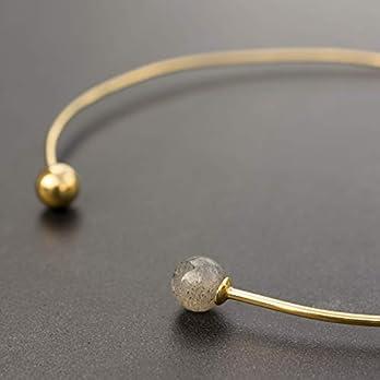 Manschette Chokerhalskette, Manschettenkette mit Labradorit, goldene Halskette, Hochzeit Halskette, Goldhalskette…
