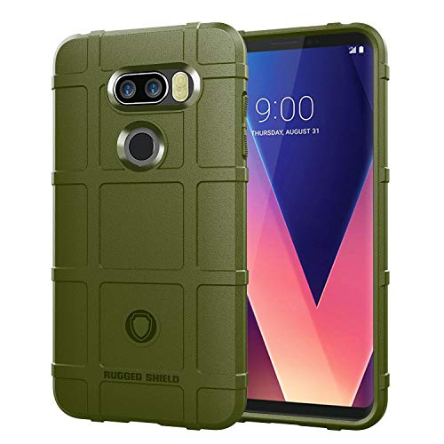 V35-port (Kompatibel mit LG V30/30+/V35 ThinQ Hülle Shield Ultra Dünn Slim Silikon Soft Flexibel TPU Bumper Schutzhülle Kratzfeste Cover Case Kratzfeste Stoßdämpfung Handyhülle (Grün))
