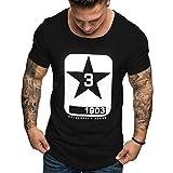T-Shirt Uomo Maglietta Stampa Tops Sportive Manica Corta Tee Scollo Tondo Camicie Fitness Magliette Sciolto Moda Shirt Estiva Tank Top Tees -Honestyi