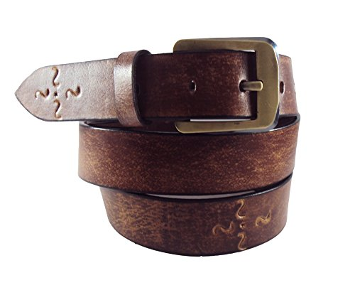 National Leathers Casual Brown Antic Genuine Leather Belt Size 30