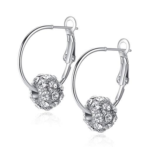Cool-House-UK Jewelry Kirschblüten-Regen-Blitz-Bohrgerät Rollen Kirsche Kugel Kristall-Ohrringe -