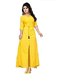 Kurtis For Women Party Wear Latest New Style Today Low Price Designer Front Slit Full Sleeves Semi Stitched Long...