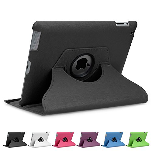 Doupi D5-H030-A - Funda para Apple iPad 2/3/4 (rotable 360°, protector de...