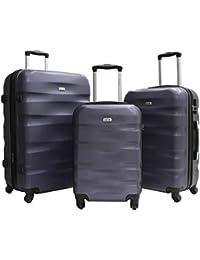 Set de 3 Valises - ABS renforcé - 4 Roues - 55cm - 65cm - 75cm - Garantie 2 Ans - Marque Alistair