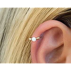 Opal Helix Piercing Ohr Ring Reifen Knorpel Ohrring