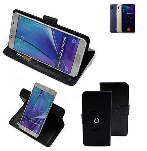 K-S-Trade® Case Schutz Hülle Für -Allview Soul X5 Style- Handyhülle Flipcase Smartphone Cover Handy Schutz Tasche Bookstyle Walletcase Schwarz (1x)