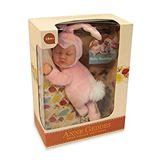 Anne Geddes 579105 Rose Pink Baby Bunny 9 inch - Bean Filled Soft Body Collection