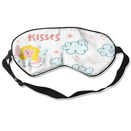 Mulberry Kiss (Kiss Baby Adjustable Eye Shade Patch Sleeping Eye Mask Cover For Men Women Kids White)