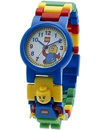 LEGO Classique minifigurine-lien - Montre Enfant - Quartz Analogique - Cadran Blanc - Bracelet Plastique Multicolore - 9005732
