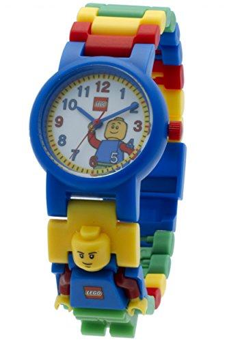 LEGO Classic Kids Minifigure Link Buildable Watch | blue/yellow | plastic | 28mm case diameter| analogue quartz | boy girl | official