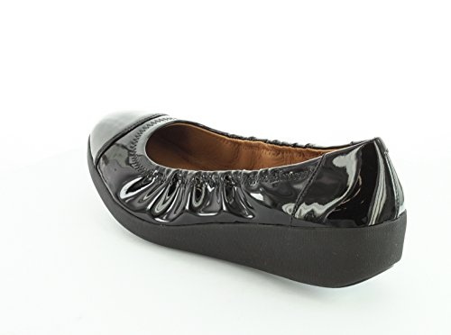 FitFlop F-Pop Patent, Ballerine Donna ALL BLACK