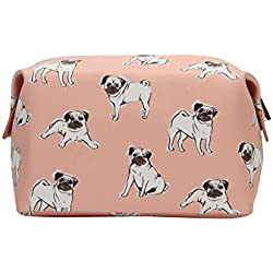 Mi-Pac Gold Wash Bag Neceser, 20 cm, 2.8 Litros, Pugs Peach