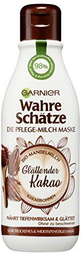 Garnier Wahre Schätze - Mascarilla para el cuidado de la leche y el cacao alisador, paquete de 1 unidad (1 x 250 ml)