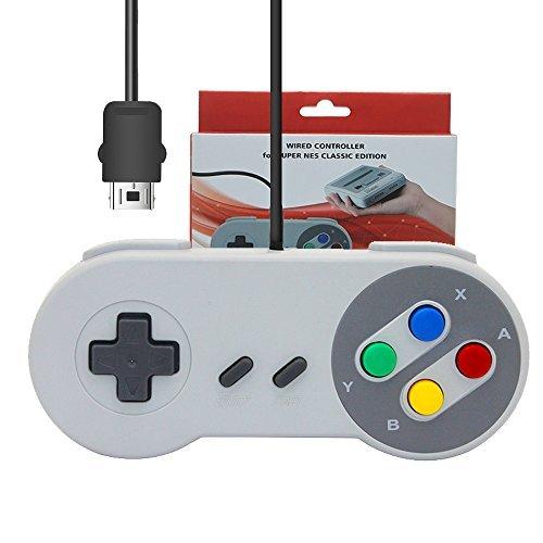 J & T Original Interface Kabel verkabelter Controller Gamepad für Super NES Classic Edition/Super Famicom Classic SFC Mini Konsole
