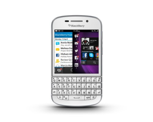 BlackBerry Q10 - Smartphone libre Blackberry (pantalla 3.1', 16 GB, 1.5 GHz), blanco