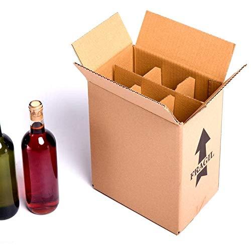 15x Caja botellas vino CON separadores cartón rejilla