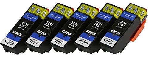 5 XL Druckerpatronen nur Black mit CHIP und Füllstandanzeige für Epson Expression Premium XP-510, XP-520, XP-600, XP-605, XP-610, XP-615, XP-620, XP-625, XP-700, XP-710, XP-720, XP-800, XP-810, XP-820
