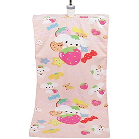 Teli Mare , Ouneed® Assorbente in Microfibra Bath Beach Porta Asciugamani Washcloth Costumi da Bagno Doccia, 70*140cm (Stampa Happy dog)
