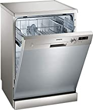 Siemens 5 Programs 12 Place Settings, Free Standing Dishwasher, Silver - SN25D800GC, 1 Year Warranty