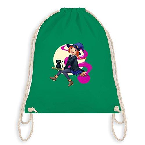Einschulung - Kleine Hexe Schulkind - Unisize - Grün - WM110 - Turnbeutel & Gym Bag