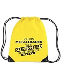 Camiseta stown Premium gymsac Ich bin metal Bauer, porque Super Held No Profesión es