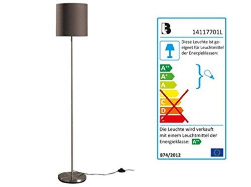 LED Beistellleuchte Stehleuchte Stehlampe Taupe und oder Creme Lampenschirm mit und ohne Flexiblen Leuchtenarm (Taupe)