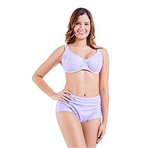 Amadoierly Split Bikini Triángulo Tamaño Plus Bañadores Bañador Fertilizante para Aumentar,Rosa,10XL...