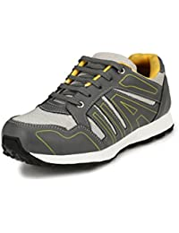 7b4ee9de5254eb Sir Corbett Men s Grey Synthetic Jogging Sports Shoes(Big Size Also  Available)