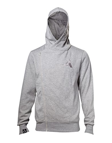 Assassin's Creed Hoodie Movie Callum Lynch Inspired Official Mens Grey Zipped