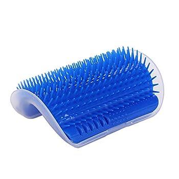 PET SPPTIES Brosse d?Angle de toilettage Massage pour Chat Groomer Brosse Peigne Chiens Chats Cheveux De Rembourrage PS021 (Blue)