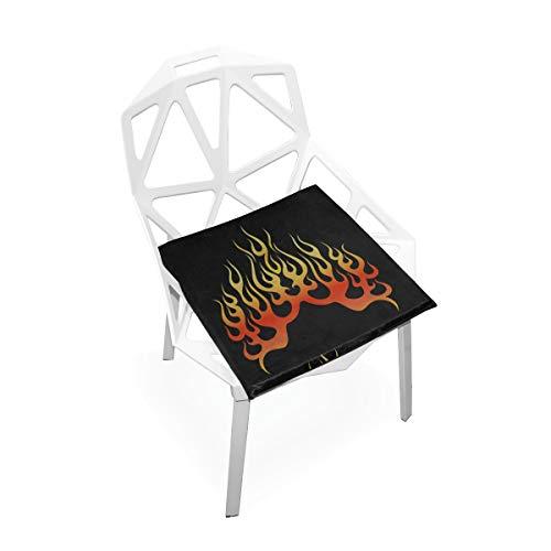 Enhusk Feuer heißes licht springen benutzerdefinierte weiche Rutschfeste Platz Memory Foam Stuhl Pads Kissen Sitz für Home küche esszimmer Schreibtisch möbel Indoor 16x16 Zoll - Multi Flamme Heizung