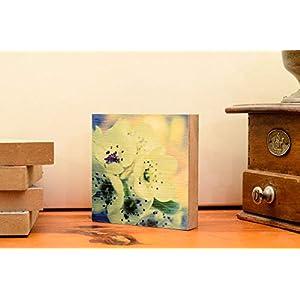Apfelblüte, Foto auf Holz, im Quadrat, 10×10, handmade Holzbild Wandbild Holzdeko Dekoration Geschenk Mitbringsel Geschenkidee