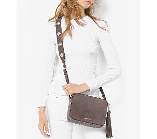 Michael Kors Brooklyn 30F6ABNM3S Damen Tasche Handtasche Henkeltasche Abendtasche Schultertasche Umhängetasche cinder