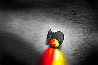 Kellermann Bullet Atto DF, Rück-/Bremslicht Blinker, schwarz, klares Glas