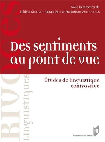 Des sentiments au point de vue : Etudes de linguistique contrastive