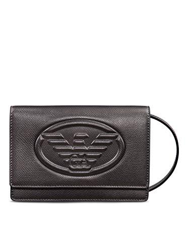 Emporio Armani Damen Logo-Umhängetasche Ein Größe Zinn
