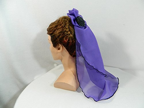 Schleier lila kurz Headpiece Gothic Barock Rockoko Biedermeier (Scarlett O'hara Kostüm)