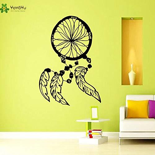 xingbuxin Vinyl Wandtattoo Traumfänger Exquisite Interieur Wohnzimmer Kunst Dekoration Aufkleber gelb 42X61 cm