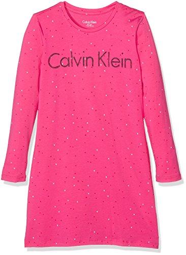 Calvin Klein Dress, Camisón para Niños, Rosa (Viva Pink PR 660), 11 Años