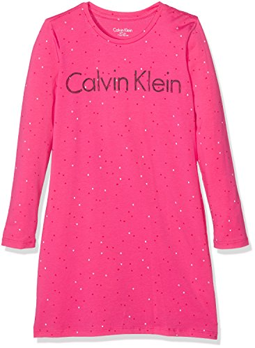 Calvin Klein Dress, Camisón para Niños, Rosa (Viva Pink PR 660), 11