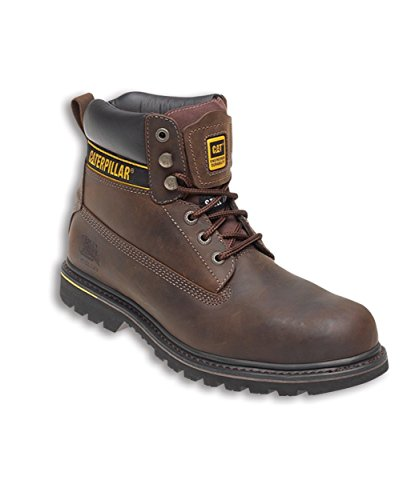 Caterpillar CAT Holton SB Brown Steel Toe Cap Safety Boots Work Boots