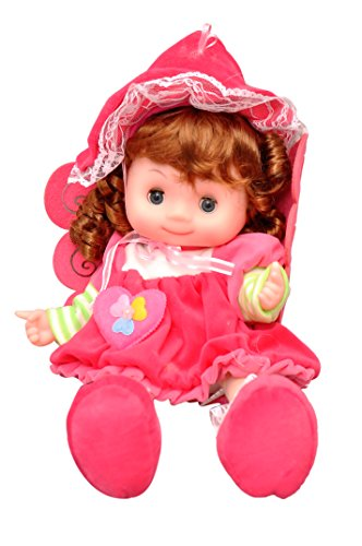 Toyshine 18 Inches Princess Fairy Singing Soft Doll, Touch Sensors, Pink Hat