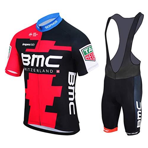 Sports Thriller Rider MTB Radtrikot Kurzarm für Herren Mountain Bike Fahrradtrikot Fahrradbekleidung T-Shirt und Trägerhose Anzug Medium