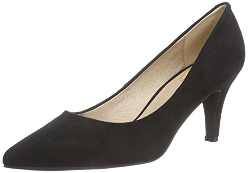 La Strada Schwarze pointed-toe Pumps, Decolleté chiuse donna, Nero (Schwarz (2201 - micro black)), 37