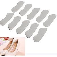 JUEYAN 10 Stück Fersenpolster 10,8CM Fersenkissen Selbstklebend Fersenschutz Leder Heel Kissen Pads für Schuhe preisvergleich bei billige-tabletten.eu