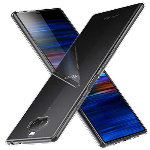 Peakally Coque Sony Xperia 10 Plus, Ultra Fine TPU Silicone Transparent Souple Housse Etui Coque pour Sony Xperia 10 Plus, Adhérence Parfaite/Anti Rayures/Anti-Scratch-Transparent