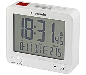 funkwecker digital kompakter funk uhr wecker mit licht schlummerfunktion snooze alarm datum. Black Bedroom Furniture Sets. Home Design Ideas