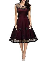 MIUSOL Damen Cocktail Kleid Hochzeitkleid Elegant 50er Rockabilly Abendkleid