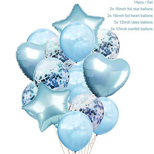 ATezi 12 - Zoll - Blaue Party Ballons royal Blaue Luftballons Blaue Latex - Ballons Party - Luftballons für Jungen, Taufe, Jungs babyparty, Jungen 1. Geburtstag (Royal Latex-luftballons Blau)